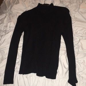 Black knit sweatshirt